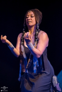 Donna Mejia, JamBallah Saturday night showcase at the Artis Repertory Theatre in Portland, OR on August 13, 2016. (photo by Casey Campbell Photography)