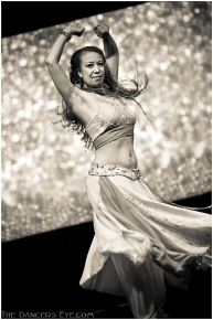 Donna Mejia performing at Elevations Tribal Fusion Festival, 2012. Photo by Carrie Meyer
