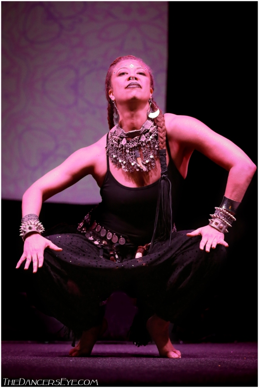 Donna Mejia performing at Elevations Tribal Fusion Festival, 2014. Photo by Carrie Meyer