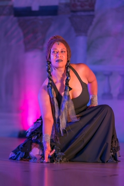 """Donna Mejia Performing """"Belonging"""" at Bellydance Masters in Orlando, Augst 2016. Photo by Carrie Meyer of The Dancer's Eye"""