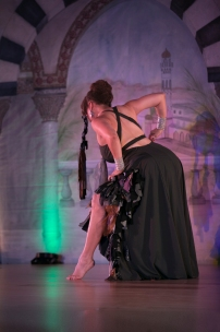 "Donna Mejia Performing ""Belonging"" at Bellydance Masters in Orlando, Augst 2016. Photo by Carrie Meyer of The Dancer's Eye"