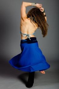 Donna Mejia (blue) by Steve Balderamma 2011