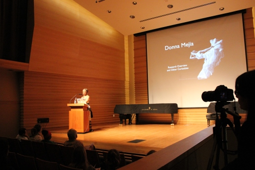 Donna Mejia's Keynote Lecture at USF, October 2015. Photo by Salwa/Art2Action