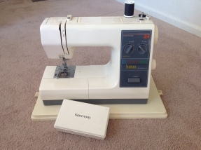 Sears Kenmore 24 Stitch Free Arm 24 385-1764180. Found for $29 at a local thrift. Excellent condition, superb stitch, sensitive foot pedal, and adaptable to all low shank attachments / presser feet. It is a very quiet, but powerful machine that is a joy to use.