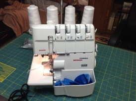 My reward to myself for persevering through a challenging phase of life (illness/divorce/loosing loved ones): The Bernina 1150 MDA Serger! Oooooweeeee... slowly learning all that this machine can do. It's the only item in this sewing space purchased new from a dealer.