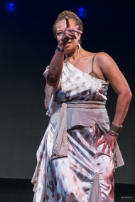 Donna Mejia at the 2017 Harlem Hafla, Photo by Monzeeki
